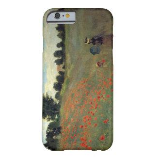 Las altas amapolas salvajes del Res Monet acercan Funda Para iPhone 6 Barely There