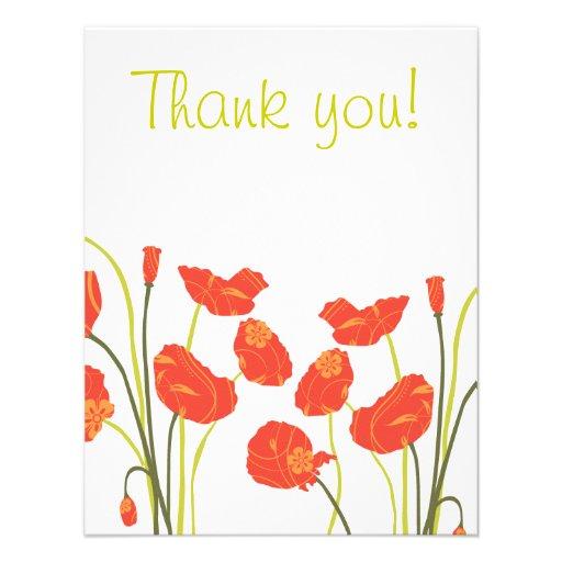 Las amapolas bonitas le agradecen Notecard Anuncio