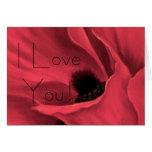 Las amapolas rojas florecen la pintura del arte -… tarjeta