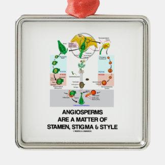 Las angioespermas son una cuestión de estilo del e ornamento para arbol de navidad