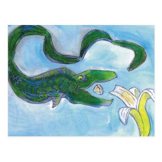 ¡Las anguilas comen plátanos! Tarjeta Postal