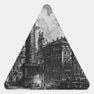 Las antigüedades romanas, T. 1, placa XIII. Pegatina Triangular
