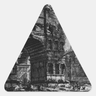 Las antigüedades romanas, T. 1, placa XXI. Arco Pegatina Triangular