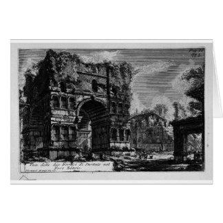 Las antigüedades romanas, T. 1, placa XXI. Arco Tarjeta De Felicitación