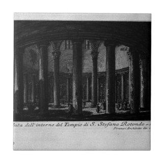 Las antigüedades romanas, T. 1, placa XXV. Santo Azulejo Cuadrado Pequeño
