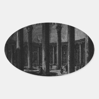 Las antigüedades romanas, T. 1, placa XXV. Santo Pegatina Ovalada