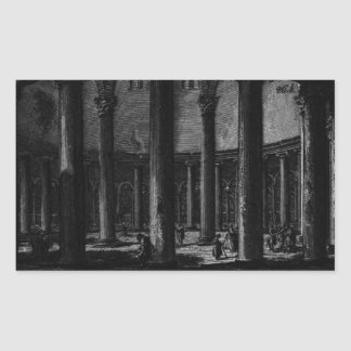 Las antigüedades romanas, T. 1, placa XXV. Santo Pegatina Rectangular