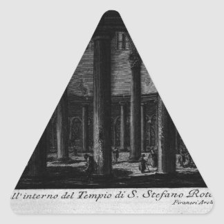 Las antigüedades romanas, T. 1, placa XXV. Santo Pegatina Triangular