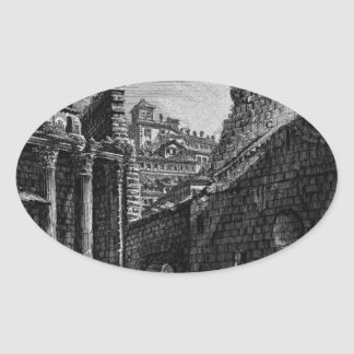 Las antigüedades romanas, T. 1, placa XXX. Foro Pegatina Ovalada
