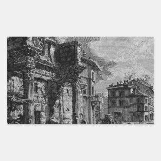 Las antigüedades romanas, T. 1, placa XXX. Foro Pegatina Rectangular