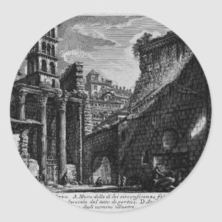 Las antigüedades romanas, T. 1, placa XXX. Foro Pegatina Redonda
