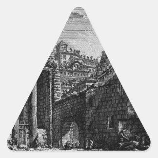 Las antigüedades romanas, T. 1, placa XXX. Foro Pegatina Triangular