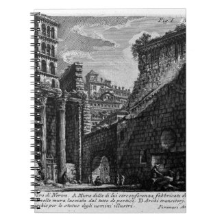 Las antigüedades romanas, T. 1, placa XXX. Foro Spiral Notebooks