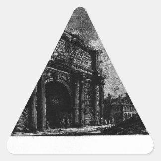 Las antigüedades romanas, T. 1, placa XXXI. Arco… Pegatina Triangular
