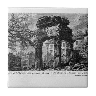 Las antigüedades romanas, T. 1, placa XXXII. Azulejo Cuadrado Pequeño