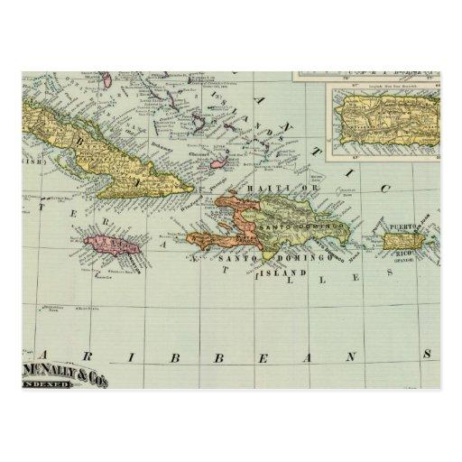 Las Antillas 11 Postal
