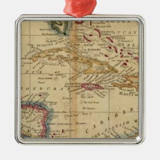 Las Antillas 16 Adorno Navideño Cuadrado De Metal