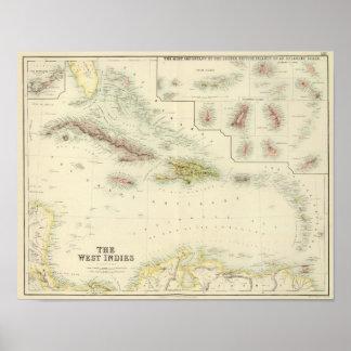 Las Antillas Póster