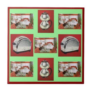 Las aplicaciones de cocina retras del vintage azulejo cuadrado pequeño