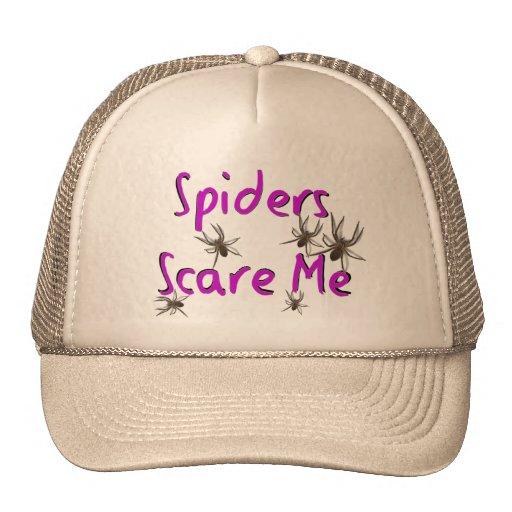 """Las """"arañas me asustan"""" las camisetas y los regalo gorros"""