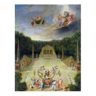 Las arboledas de Versalles. L'Arc de Triomphe Tarjeta Postal