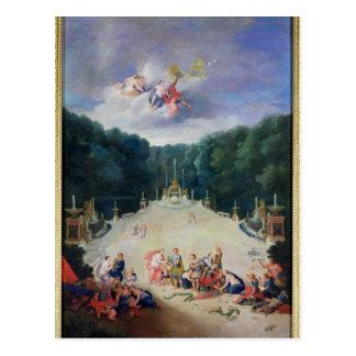 Las arboledas de Versalles Postal