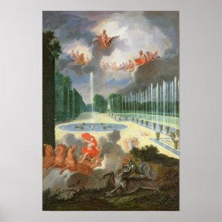 Las arboledas de Versalles Vista de la piscina de Poster