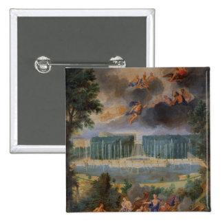 Las arboledas de Versalles. Vista de la piscina de Pin Cuadrada 5 Cm
