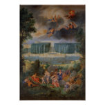 Las arboledas de Versalles. Vista de la piscina de Póster