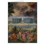 Las arboledas de Versalles. Vista de la piscina de Tarjeta De Felicitación
