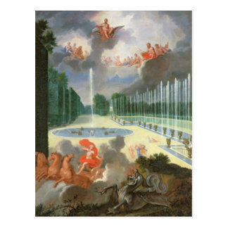 Las arboledas de Versalles. Vista de la piscina Tarjeta Postal