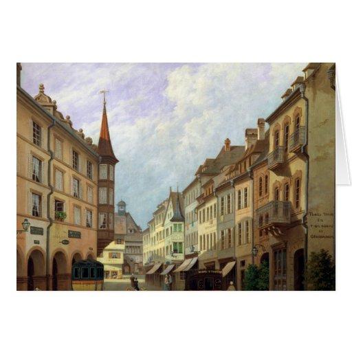 Las arcadas, ruda magnífica, Colmar, 1876 Tarjeta De Felicitación