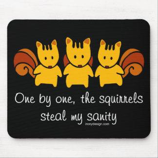 Las ardillas roban mi cordura mousepads