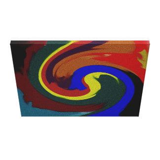 Las arenas de la gema envolvieron la lona impresión en tela