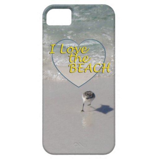 Las arenas y yo de la lavandera amamos la playa iPhone 5 funda