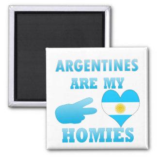Las argentinas son mi Homies Imanes Para Frigoríficos