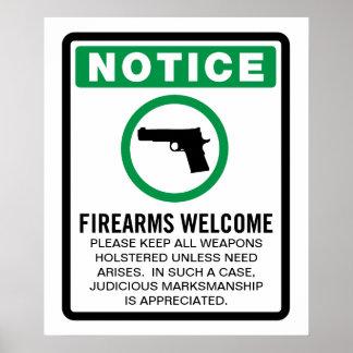 Las armas de fuego permitieron el poster