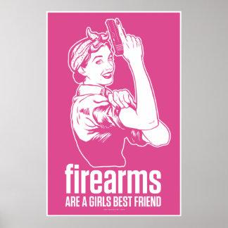 Las armas de fuego son una impresión del mejor ami póster