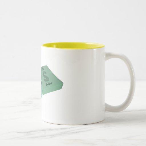Las as La Lanthanum and S Sulfur Two-Tone Coffee Mug