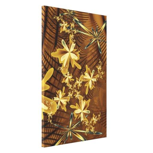 Las atavíos abstractas de la flor envolvieron la l impresión en lona