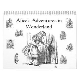 Las aventuras de Alicia en calendario del país de