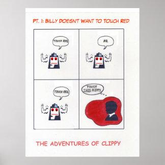 Las aventuras de Clippy, pinta. 1 Poster