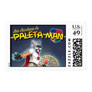 Las Aventuras de Paleta Man Postage