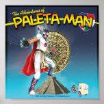 Las aventuras del poster del hombre de Paleta Póster