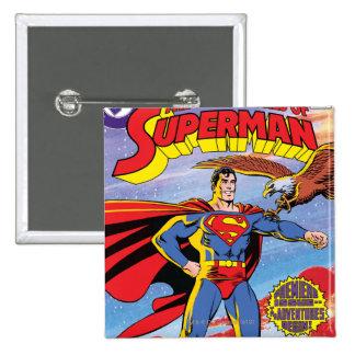 Las aventuras del superhombre #424 pin cuadrada 5 cm