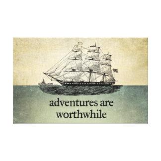 Las aventuras son lona de mérito lona estirada galerias