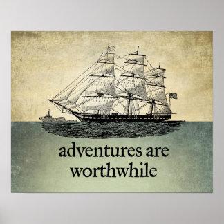 Las aventuras son poster de mérito