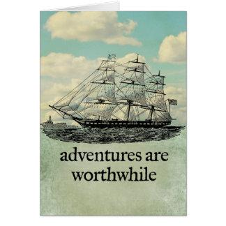 Las aventuras son tarjeta de mérito
