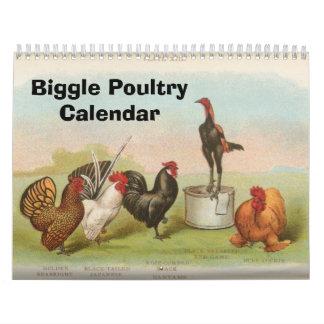 Las aves de corral de Biggle hacen calendarios