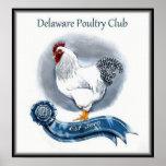 Las aves de corral de Delaware aporrean el poster